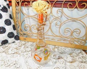 Vintage Pilsner Urquell Bottle, Vintage Whiskey Bottle, Vintage German Bottle, Bar Ware, Vintage Bottle , Vintage  Home Decor,  :)s*