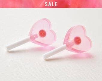 SALE Heart Lolly Pop Studs