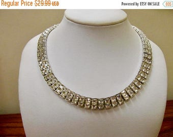ON SALE Vintage Rhinestone Collar Necklace Item K # 3043