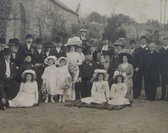 Edwardian Wedding - 'Big hats Bowlers and Bridesmaids' Large Photograph
