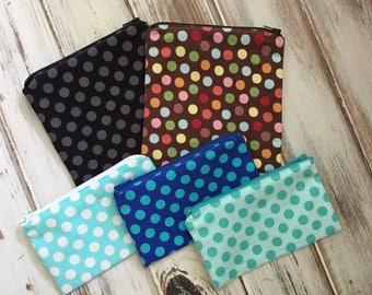 Just Dots - You Choose Sandwich & Snack Bags with Zipper Closure