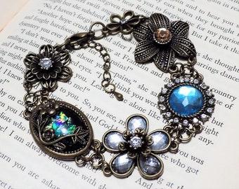 Vintage Inspired Floral Bracelet