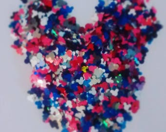 Matte and Holo Mickey Glitters  - Hey Mickey - 5 Gram Nail Polish Glitter Mix for Nail Polish Frankening Slime