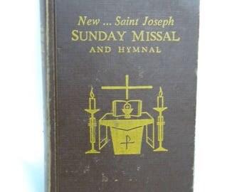 Vintage New St Joseph Sunday Missal book and Hymnal.1966 Pocket book Missal. Vintage Catholic Missal book