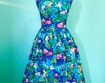 Flamingo Trudie Dress - ready to ship - L/XL