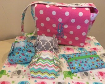 SALE**** Doll diaper bag and diapers set
