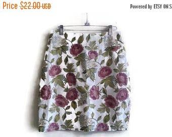 SALE Floral mini skirt vintage 90s M-L 28-30