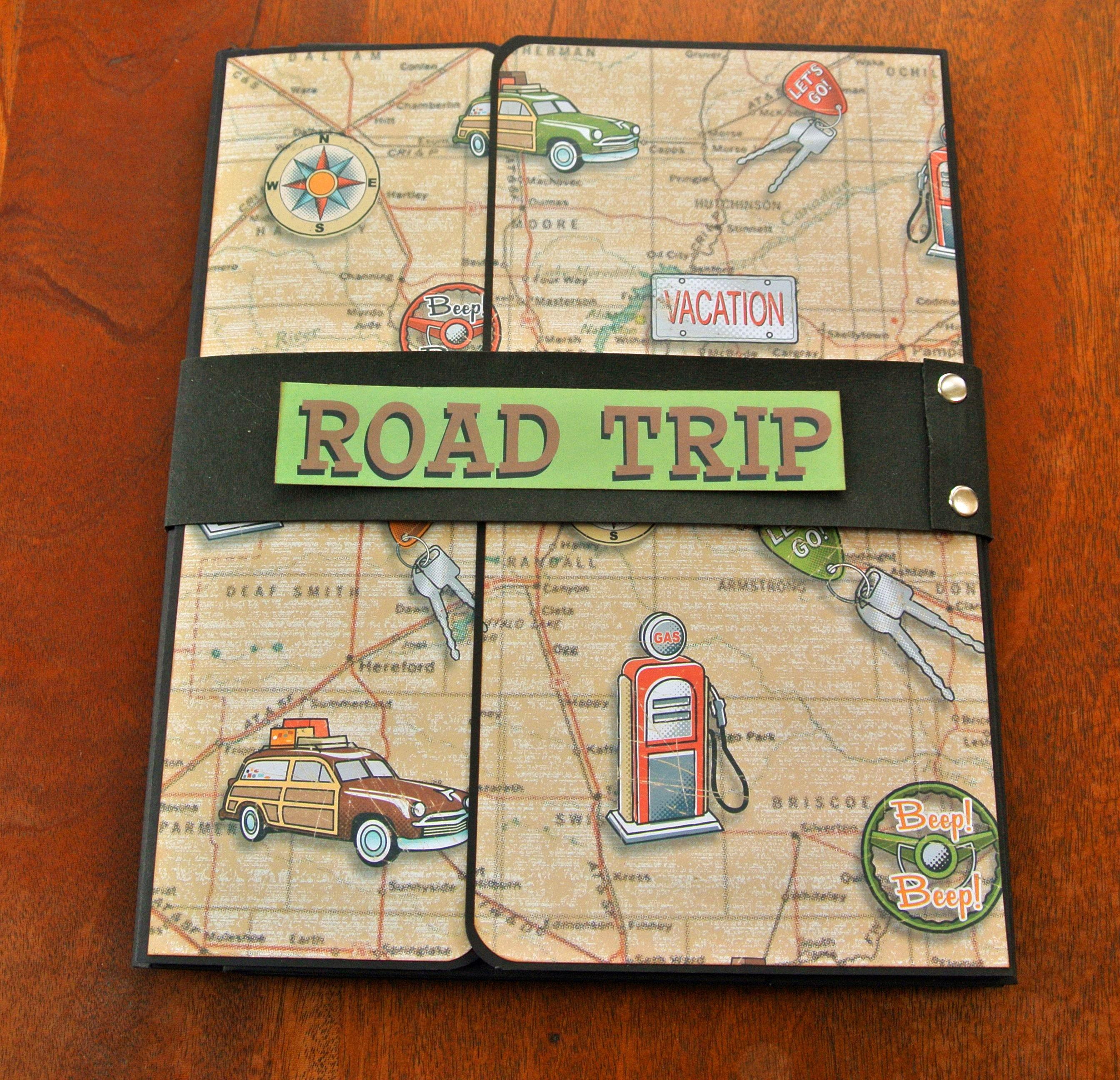 travel gift travel album travel journal road trip folio style scrapbook album from. Black Bedroom Furniture Sets. Home Design Ideas