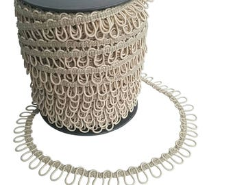 Champagne Elastic Bridal Button Loops