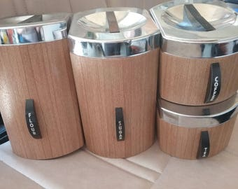 60's Kromex Cannister Set, Vintage Kitchen Storage
