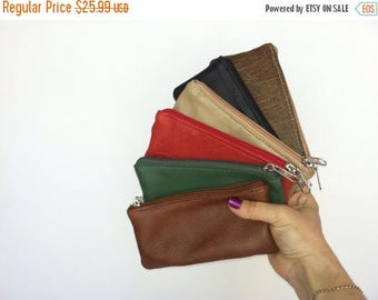 ON SALE Small Leather Pouch, Mini Cosmetic Bags, Leather Purse, Coin Bag,Trendy Mini Purses, Maria