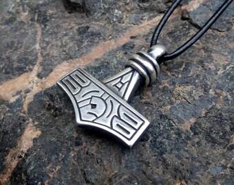 Sterling Silver Thors Hammer Mjolnir Pendant from Gotland