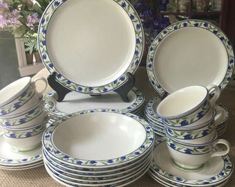 Beautiful Mikasa Stoneware Set Spring Sonata Service for 6 Cottage and Farmhouse Perfect