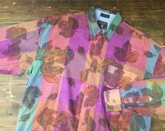 Chaps Ralph Lauren Autumnal Print Shirt