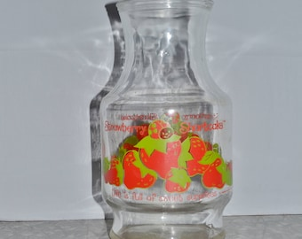 "Strawberry Shortcake ""Berry Good"" Canister ~ Vintage Glass Canister ~ Epsteam"