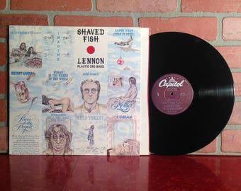 JOHN LENNON Plastic Ono Band Shaved Fish Vinyl Record Album LP 1975 Beatles Classic Rock Pop Music Vintage