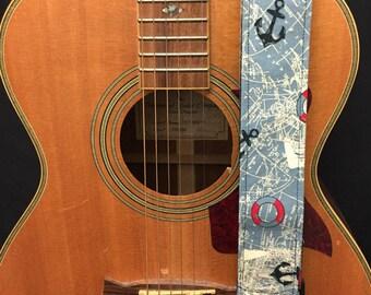 Nautical Handmade Guitar Strap Music Accessories Skulls Gothic