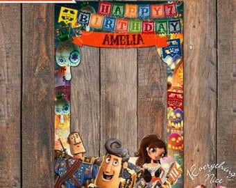 """The Book of Life Theme 24"""" x 36""""  Happy Birthday Photo Booth Frame Digital Download"""