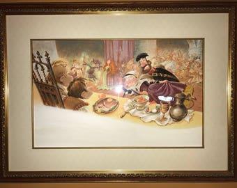 The palace banquet hall—original gouache illustration