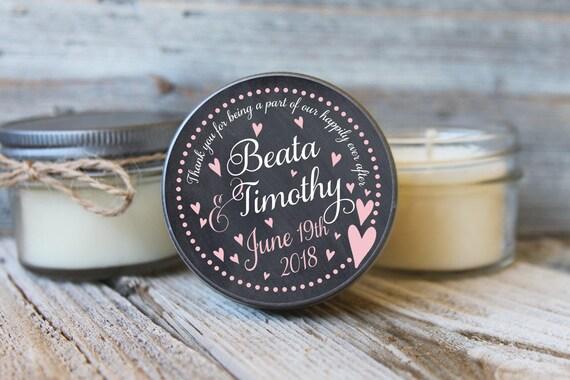 12 - 4 oz Bridal Shower Favor//Chalkboard Heart Favor//Soy Candle Favor//Personalized Bridal Shower Favor//Shower Favor//Candle Favors//