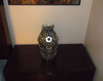 Vase Metal Recycled Art