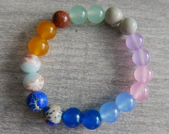 Kid's Bracelet/Reiki/Mala/Yoga/Stress Relief/Candy Colors