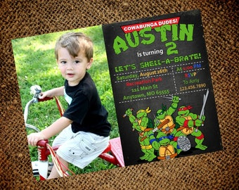 Teenage Mutant Ninja Turtles Birthday Invitation - TMNT - Boy Birthday