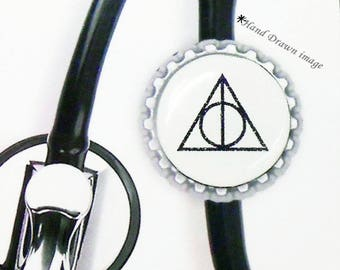 Deathly Hallows Inspired Stethoscope ID Tag, Nurse Stethoscope Clip, IName Clip, Nurse  Id, Stethoscope, Harry Potter ID