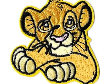 Simba - The Lion King - Disney - Embroidered Iron On Applique Patch - B