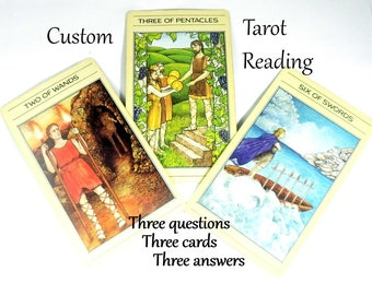 Custom Tarot Card Reading, Oracle Cards Tarot Reading, Same Day Psychic Reading w Advise Cards, Clairvoyant Intuitive Reading Life Coaching