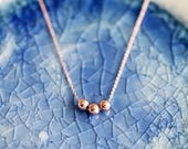 Add A Bead Necklace - Rose Gold Chain Necklace - Rose Gold Chain - Delicate Necklace - Dainty Necklace - Dainty Rose Gold Chain - Mom Gift