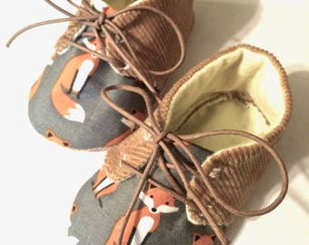 Fox Oxford Soft Sole Baby Shoes Baby Gift