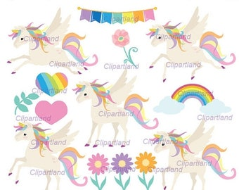 ON SALE INSTANT Download. Cu_17_Unicorn. Cute unicorn clip art. Personal and commercial use.