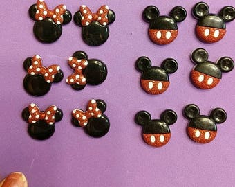 Mickey or Minnie mouse earrings