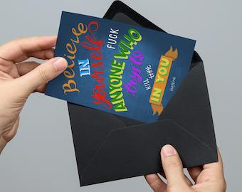 PRE ORDER ** Believe // Brazilarte postcard, notecard & envelope A6