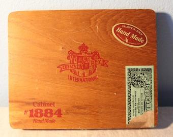 Vintage Wooden Cigar Box Cuesta Rey International