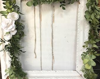 Romantic wedding garland, aisle runner, paper flower garland, boho wedding garland, woodsy weddig garland, paper garland