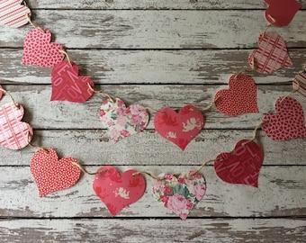 Valentine banner, photo prop banner, home decor banner, valentine decorations, valentine decor, valentines banner