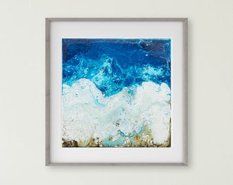 Blue Fine Art Print- Blue Painting, Beach House Art, Beach Decor, Beach Art, Fine Art, Abstract, Impressionism, Fine Art, Blue Decor