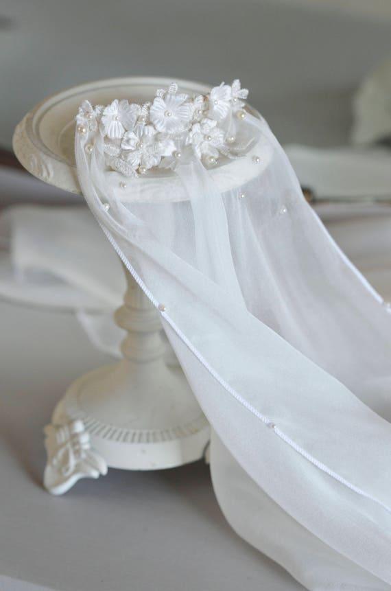 Floral Lace Silk Veil