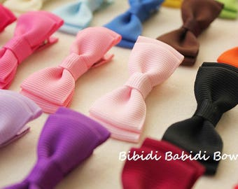 Mini tuxedo bows - set of 5- girls hair accessories -  Birthday gift - 1.00 hair bows -infant hair bows - You can choose colors