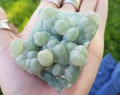 Large Prehnite Mineral Specimen- New Jersey- light green- botryoidal cluster, work in love- //P6