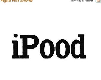 SALE 25% OFF IPood, Great for Onesies and Tshirts, Instant Download, 6 Sizes