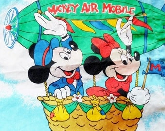 ON SALE Vintage 1960's Walt Disney Production Curtains for Nursery or Kids Room, Mickey Mouse, Minnie Mouse, Donald Duck, Goofy, Pluto, Dumb