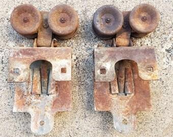 frantz sterling il set of 2 barn door rollers trolleys