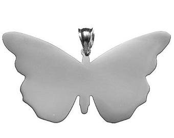 ON SALE Butterfly Charm Necklace In Sterling Silver