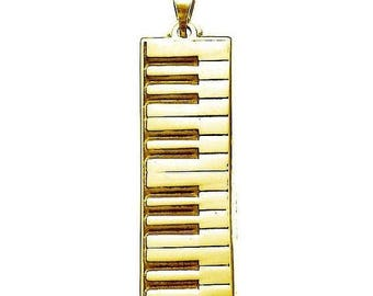 ON SALE Keyboard Necklace in Sterling Silver and Gold Vermeil