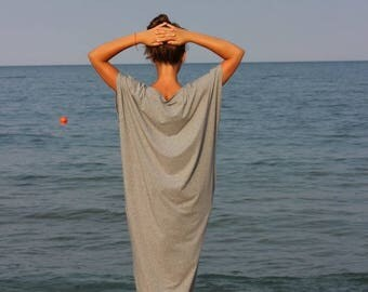 SALE ON 20 % OFF Grey Maxi dress, Plus size dress, Caftan, Oversized dress, Abaya, Kaftan, Party dress, Summer dress