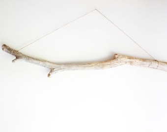 """1 Long and Thick Driftwood Piece -- 105 cm (41.3"""") -- Fine Quality Drift Wood for Macrame, Curtains, Wall Wovens, Tapestry, Decoration"""