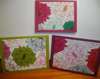 Large Detail Petal Flowers 8-Card Box
